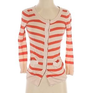Wallace Sweater Red Stripes Long Sleeve Size XS